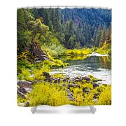 Peace And Tranquility In The Heart Of Feather River, Quincy California Shower Curtain