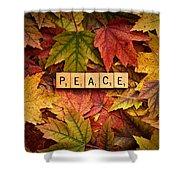 Peace-autumn Shower Curtain