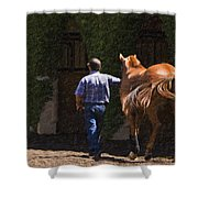 Peace Before The Race - Del Mar Horse Race Shower Curtain
