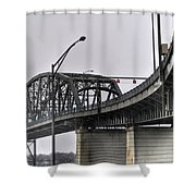 Peace Bridge 00a  Shower Curtain