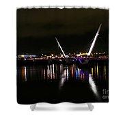 The Peace Bridge At Night Shower Curtain