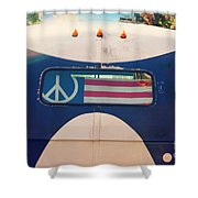 Peace Bus Shower Curtain