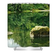 Peace By The River Shower Curtain