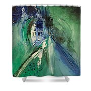 Peace Chaotic Shower Curtain
