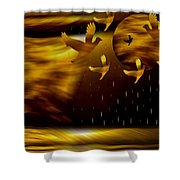 Peace Doves In The Desert Shower Curtain by Pepita Selles