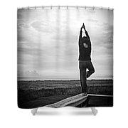 Peace Shower Curtain by Edward Fielding