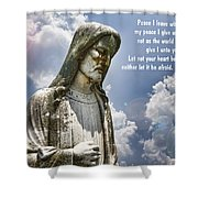 Peace I Leave With You Shower Curtain