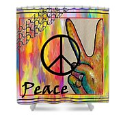 Peace In Every Color Shower Curtain