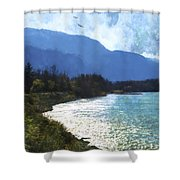 Peace In The Valley - Landscape Art Shower Curtain
