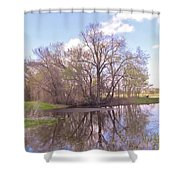 Peace In The Woods Shower Curtain
