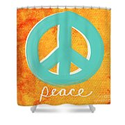 Peace Shower Curtain by Linda Woods