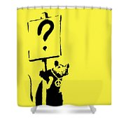 Peace / Love Protester  Shower Curtain