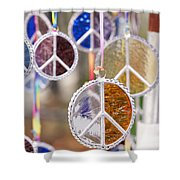 Peace Medals Shower Curtain