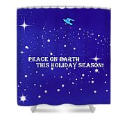Peace On Earth Card Shower Curtain