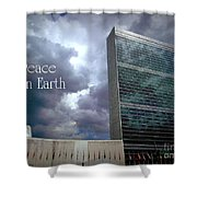 Peace On Earth - United Nations Shower Curtain
