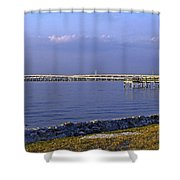 Peace River Bridge Shower Curtain