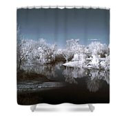 Peace River North Near Infrared Arcadia Florida Usa Shower Curtain
