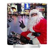 Peace Santa Shower Curtain