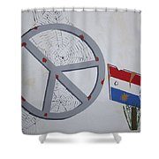 Peace Sells But Who's Buying Shower Curtain