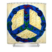 Peace Sign Shower Curtain