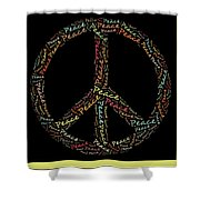 Peace Symbol - 0202 Shower Curtain by Variance Collections