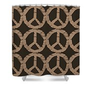 Peace Symbol Collage Shower Curtain by Michelle Calkins