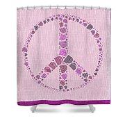 Peace Symbol Design - 42ct2b Shower Curtain