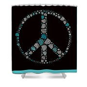 Peace Symbol Design - 87d Shower Curtain by Variance Collections