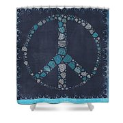 Peace Symbol Design - Btq19at2 Shower Curtain by Variance Collections