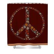 Peace Symbol Design - S05d Shower Curtain