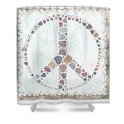 Peace Symbol Design - S76at02 Shower Curtain