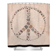 Peace Symbol Design - S77at01 Shower Curtain