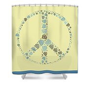 Peace Symbol Design - Y87d Shower Curtain by Variance Collections