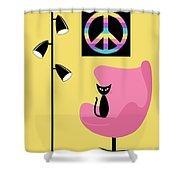 Peace Symbol Shower Curtain