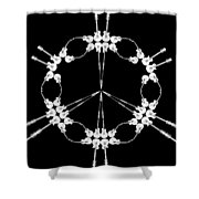 Peace Symbol Made Of Electric Guitars Shower Curtain