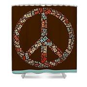 Peace Symbol Retro - 0103b  Shower Curtain