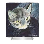 Peace The Cat Shower Curtain