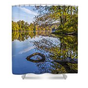 Peaceful Autumn Shower Curtain