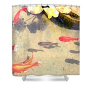 Peaceful Day In The Pond Shower Curtain