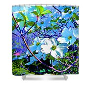 Peaceful Dogwood Spring Shower Curtain