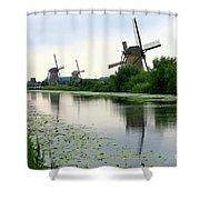 Peaceful Dutch Canal Shower Curtain by Carol Groenen
