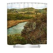 Peaceful Estuary In Carmel Shower Curtain