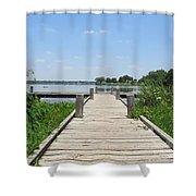 Peaceful Fishing Dock Shower Curtain