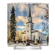 Peaceful Shower Curtain by Garvin Hunter