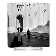 Peaceful Greeting Shower Curtain