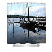 Peaceful Harbor Scene - Ct Shower Curtain
