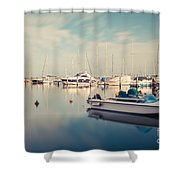 Peaceful Harbour Shower Curtain