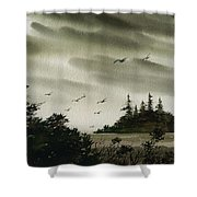 Peaceful Inland Cove Shower Curtain
