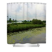 Peaceful Kinderdijk Shower Curtain