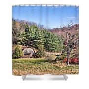 Peaceful Late Autumn Shower Curtain